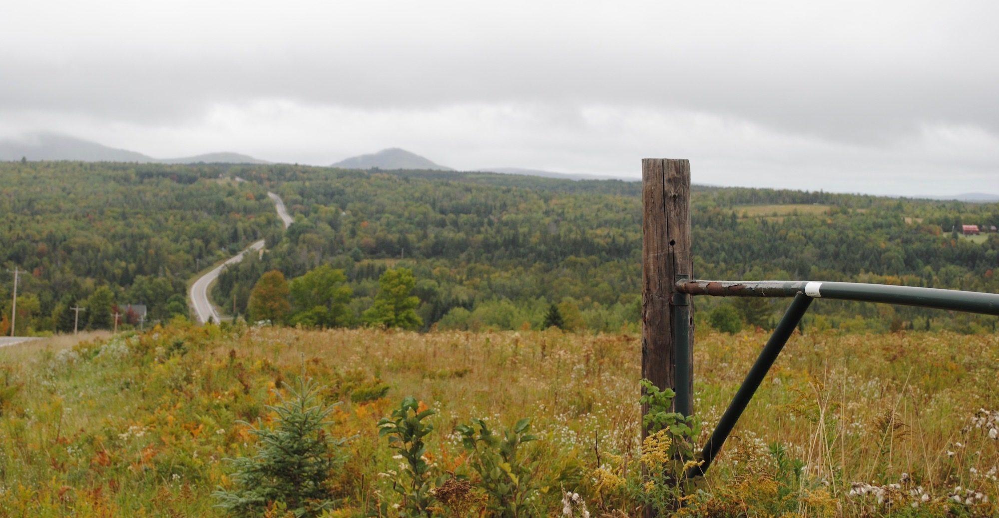 Rt. 11 north of Bangor, Maine