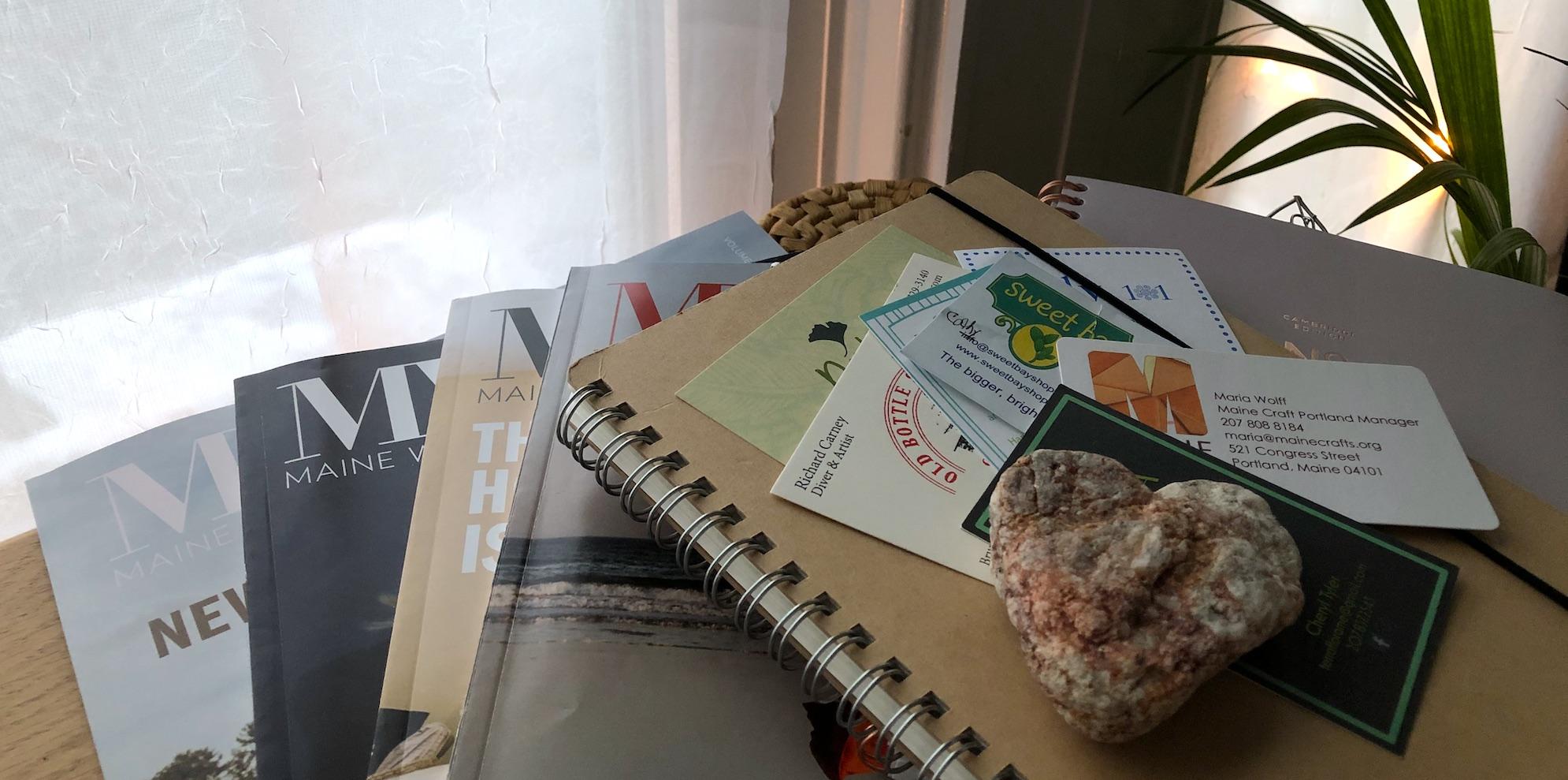 maine women magazines and notebooks